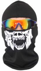 Witte Merkloos / Sans marque Bivakmuts Ski Muts Skull - Muts met schedel print - Skull Balaclava - Model B