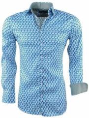 Montazinni heren overhemd met trendy design stretch - groen