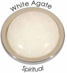 Quoins QMEE-S-WA Disk Emotions White Agate Small