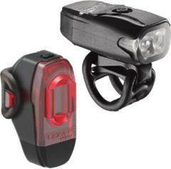Lezyne KTV Drive Pair 220F/10R Lumen LED Fietslamp Zwart/Donkergrijs