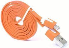 Qatrixx Micro USB Kabel Datacable 1 meter Universeel Orange Oranje