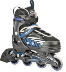 Hudora Kinder inline skates Leon Blauw - Zwart maat 33-36