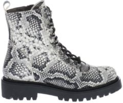 Witte Low Boots Hip Shoe Style For Women HIP D1531 Bikerboots Slangenprint