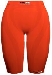 Knapman Ladies Zoned Compression Short 45% Oranje | Compressiebroek (Liesbroek) voor Dames | Maat XL
