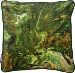 A&E Originals - Kussen velvet Outerspace groen - 50 x 50 cm