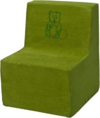 Go Go Momi Zachte foam stoel, borduurwerk, kinderen, comfortabel, zetel, kinderdagverblijf, Kids meubels, spelen, ontspannen - Groene