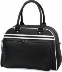 Bagbase Retro bowlingtas, Kleur Zwart/Wit (Black/White)