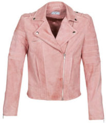Roze Leren Jas Betty London MARILINE