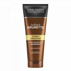 John Frieda Briliant Brunette Visibly Brighter Shampoo 250 ML – 20x6x4cm | Conditioner voor Vrouwen | Bruin Haar | Haarverzorging