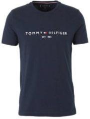 Blauwe Tommy Hilfiger Men's Tommy Logo T-Shirt - Sky Captain - S - Blue