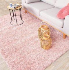 Fraai Hoogpolig vloerkleed - Lofty Roze 140x200cm