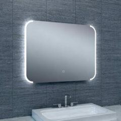 Douche Concurrent Badkamerspiegel Bracket 80x60cm Geintegreerde LED Verlichting Verwarming Anti Condens Touch Lichtschakelaar Dimbaar
