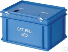 Engels Batterijbox 20 liter blauw