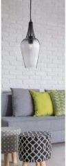 Searchlight Glazen hanglamp WhiskØ 16cm 8911BK