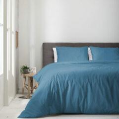 Witte Luna Bedding - Lits-jumeaux Dekbedovertrek Luna Uni - Blauw 240x220 cm - Microvezel - Dekbedovertrek met 2 kussenslopen