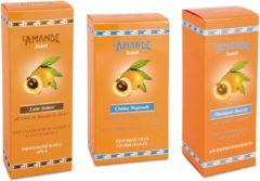 L'Amande Soleil Voordeelset : Zonnemilk BF 6 200 ml.+ Aftersun crème 150 ml.+ After Swim Shampoo-Douche 250 ml.t.w.v. € 43,85