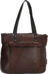 Bruine Micmacbags Highland Park shopper dark brown