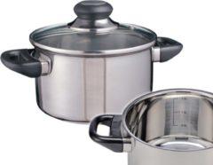 Zilveren Haushalt 21303 - kookpan - RVS - 16cm met glazen deksel
