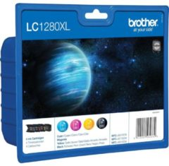 Brother LC1280XL Value Pack - 4er-Pack - Schwarz, Gelb, Cyan, Magenta LC1280XLVALBPDR