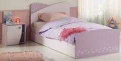 Bett 90 x 200 mit Bettschubkasten und Nako rosa/ lila Parisot Cristal 5
