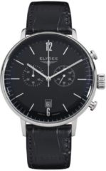 Zwarte Elysee Horloge 13277 - 42 mm - Zilverkleurig - Automaat
