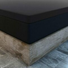 Suite sheets Topper Hoeslaken Jersey Zwart Lits-Jumeaux - 160 x 200 cm