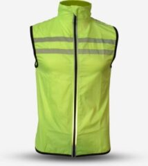 Gato Sports Veiligheidswindbreaker Polyester Geel Maat Xs