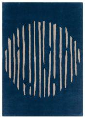 Groene Laagpolig vloerkleed Claire Gaudion Island Blue
