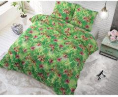 Sleeptime Dreamy Leopard - Dekbedovertrekset - Lits-Jumeaux - 240x200/220 + 2 kussenslopen 60x70 - Groen