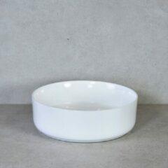 QeramiQ Note opbouw waskom 37x12cm keramisch wit glans 10401052