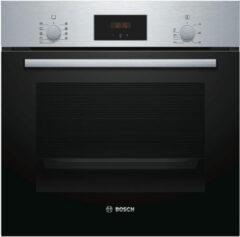 Roestvrijstalen Bosch HBF114BS1 inbouw oven met pizzastand