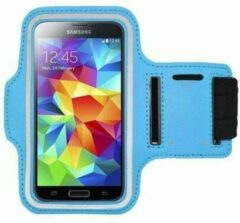 Blauwe Samsung Galaxy Note 2 sports armband case Blue