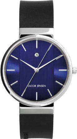 Afbeelding van Zilveren Jacob Jensen watches herenhorloge New 739