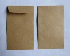 Amerigo Bruine envelop - 6,5 x 10 cm - 100 stuks