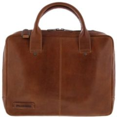 Plevier 15.6 Toploader full grain leather bag Brown - [855-2]