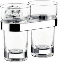 Emco Polo dubbele glashouder inclusief 2 glazen 11,5 x 13,5 x 9,8 cm, chroom