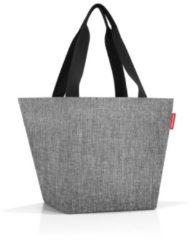 Reisenthel Shopper M Handtas - Shopper - Maat M - Polyester - 15L - Twist Silver Grijs