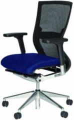 Blauwe Schaffenburg Bureaustoel - 105 verchr. ond. zitting stof, rug mesh paars/zw