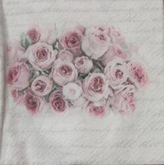 Roze Sagen Vintage Design Servetten Sagen 80062 33 x 33 cm