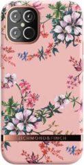 Roze Richmond & Finch - iPhone 12 mini Hoesje - Freedom Series Pink Blooms