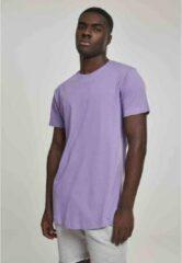 Urban Classics Heren Tshirt -XS- Shaped Long Paars