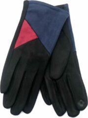 Dielay - Handschoenen met Vlakken - Dames - One Size - Touchscreen Tip - Zwart