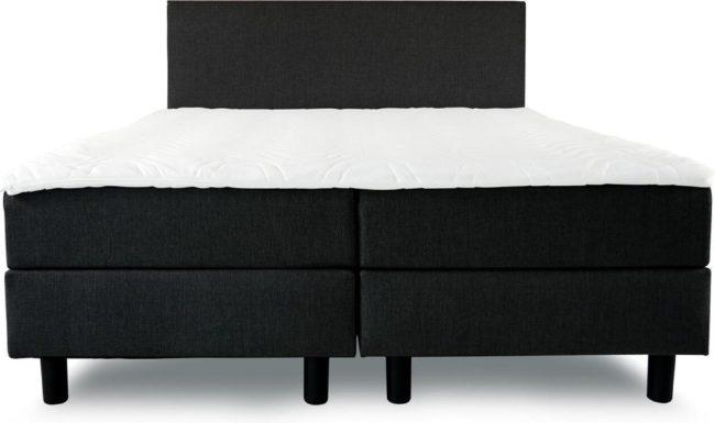 Afbeelding van Boxspring Cesar - ComfortKing - 160 x 200 - Zwart - Inclusief hoofdbord en Koudschuimmatras