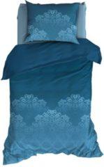Blauwgroene Satin d'Or Baroque - Dekbedovertrek - Eenpersoons - 140x200/220 cm + 1 kussensloop 60x70 cm - Teal
