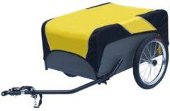 Zwarte Roland Traveller aanhangwagen m/kopp. m/nylon zeil 500723