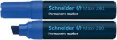 Marker Schneider Maxx 280 permanent beitelpunt blauw