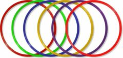 Paarse MD Sport   Hoepelset van 6 hoepels diameter 50cm   Turnhoepels   Schoolplein hoepels