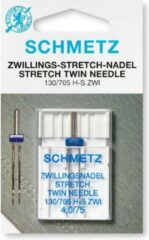 Zilveren Schmetz Machinenaald Tweeling Stretch N°75-4mm