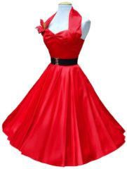Rode Vivien of Holloway Satin Dress Red