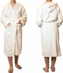 Beige Sorprese badjas – Teddy Microfleece – off white – badjas dames – maat S/M – met capuchon